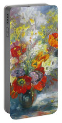 Tulips, Narcissus And Forsythia Portable Battery Charger
