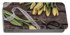 Portable Battery Charger featuring the photograph Tulips Of Spring by Kim Hojnacki