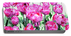 Tulips  Portable Battery Charger by Patricia Hofmeester