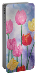 Tulips - Red-yellow-pink Portable Battery Charger
