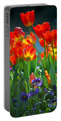 Tulips Portable Battery Charger by Robert Meanor