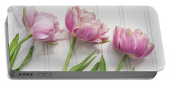 Portable Battery Charger featuring the photograph Tulips Three by Kim Hojnacki