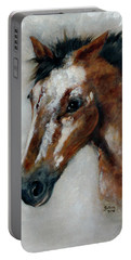 Portable Battery Charger featuring the painting Tulsa by Barbie Batson