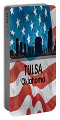 Tulsa Ok American Flag Vertical Portable Battery Charger