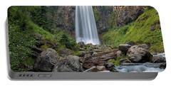 Tumalo Falls Closeup Portable Battery Charger