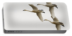 Tundra Swans In Flight 1 Portable Battery Charger