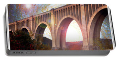 Tunkhannock Viaduct, Nicholson Bridge, Starry Night Fantasy Portable Battery Charger