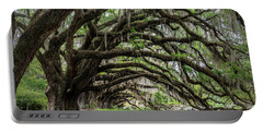 Portable Battery Charger featuring the photograph Tunnel In Charleston by Jon Glaser