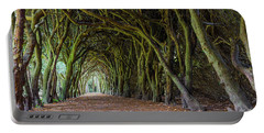 Tunnel Of Intertwined Yew Trees Portable Battery Charger by Semmick Photo