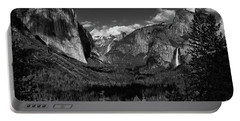 Tunnel View Black And White  Portable Battery Charger