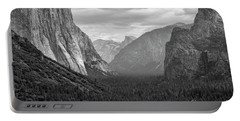 Tunnel View Bw Portable Battery Charger by Chuck Kuhn