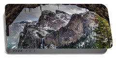 Portable Battery Charger featuring the photograph Tunnel View From The Tunnel by Bill Gallagher