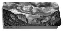 Tunnel View In Black And White Portable Battery Charger