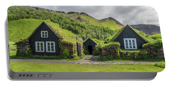Turf Roof Houses And Shed, Skogar, Iceland Portable Battery Charger