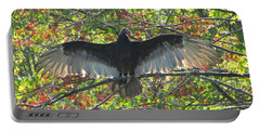 Turkey Vulture In Our Tree Portable Battery Charger by Betty Pieper