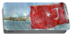 Turkish Flag Portable Battery Charger