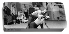 Turkish Wrestlers 1904 Portable Battery Charger