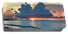 Turks And Caicos Grace Bay Beach Sunset Portable Battery Charger
