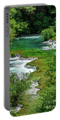 Turqouise Waterfalls Of Skradinski Buk At Krka National Park In Croatia Portable Battery Charger