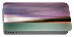 Portable Battery Charger featuring the photograph Turquoise Waters Blurred Abstract by Adam Romanowicz