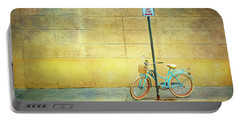 Turquoise Bicycle Portable Battery Charger