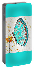 Turquoise Butterfly Portable Battery Charger