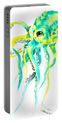 Turquoise Green Octopus Portable Battery Charger