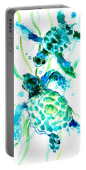 Turquoise Indigo Sea Turtles Portable Battery Charger