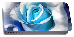 Turquoise Rose Portable Battery Charger