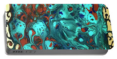 Turquoise Splash Portable Battery Charger
