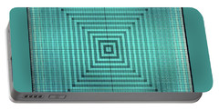 Turquoise Square Portable Battery Charger