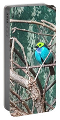 Turquoise Tanager Portable Battery Charger