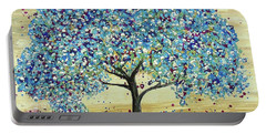 Turquoise Tree Portable Battery Charger