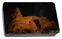 Portable Battery Charger featuring the photograph Turret Arch And The Milky Way - Utah by Gary Whitton
