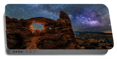 Turret Arch Under The Milky Way Portable Battery Charger