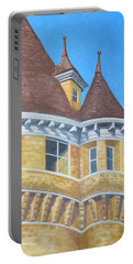 Portable Battery Charger featuring the drawing Turrets Of Lawson Tower by Dominic White
