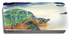 Turtle At Poipu Beach 5 Portable Battery Charger