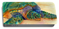Turtle At Poipu Beach 7 Portable Battery Charger by Marionette Taboniar