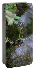 Portable Battery Charger featuring the photograph Turtle Getting Some Air by Raphael Lopez