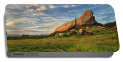 Turtle Rock At Sunset Portable Battery Charger