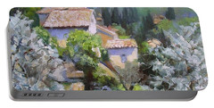 Tuscan  Hilltop Village Portable Battery Charger by Chris Hobel