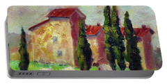 Tuscan House With Hay Portable Battery Charger