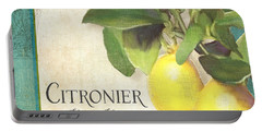 Tuscan Lemon Tree - Citronier Citrus Limonum Vintage Style Portable Battery Charger