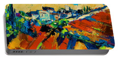 Portable Battery Charger featuring the painting Tuscan Light by Elise Palmigiani