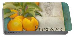 Tuscan Orange Tree - Citronier Aurantiaco Lignum Vintage Portable Battery Charger