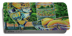 Portable Battery Charger featuring the drawing Tuscan Summer Lemonade  by Peter Piatt
