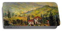 Tuscan Twilght Portable Battery Charger by Lou Ann Bagnall