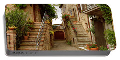 Portable Battery Charger featuring the photograph Tuscany Stairways by Donna Corless
