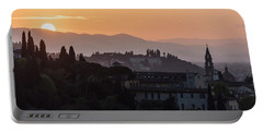 Tuscany Sunset In Florence Italy  Portable Battery Charger