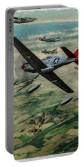 Tuskegee Airmen In Aerial Combat 2 - Oil Portable Battery Charger